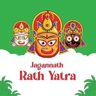 Jagannath rath yatra-bannerontwerp