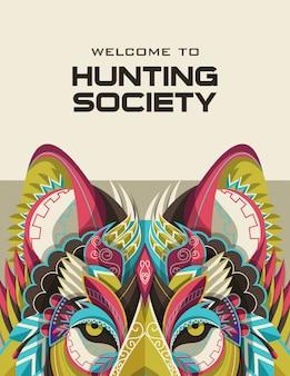 Jagen in open seizoen of jager club banners sjablonen