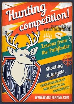 Jagen op hertenwedstrijd