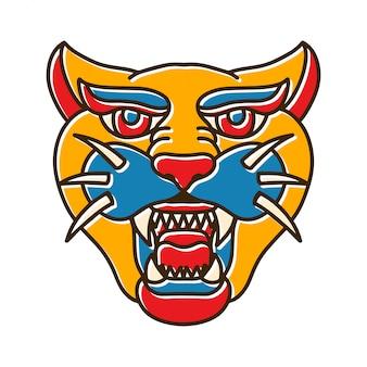 Jaguar hoofd bohotattoo