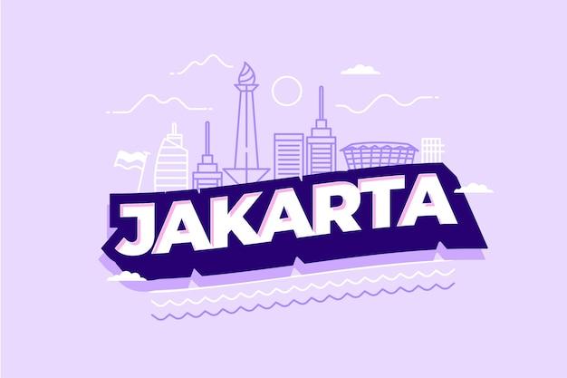 Jakarta stad belettering