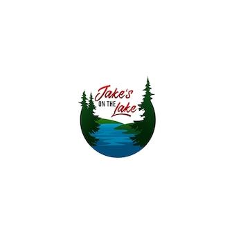 Jake's op het logo van het meer