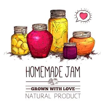 Jam jars poster