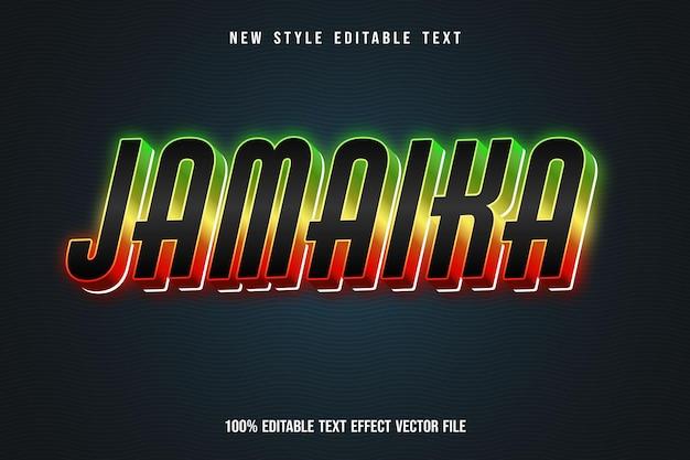 Jamaica bewerkbare teksteffect neonlichtstijl
