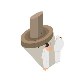 Jamarat illustratie een deel van de bedevaart van de bedevaart van de hadj