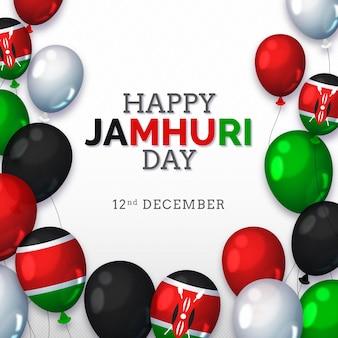Jamhuri-dag met realistische ballonnen
