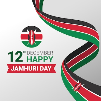 Jamhuri-dagviering plat ontwerp