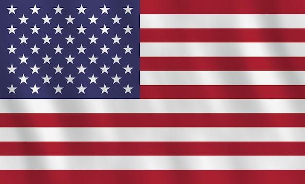 Jamusaaica-vlag met golvend effect, officiële proportie.