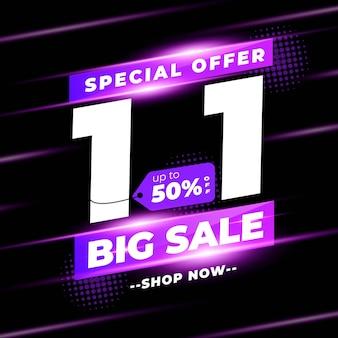 Januari shopping day sale banner