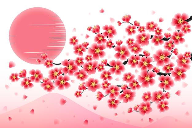 Japan cherry branch achtergrond
