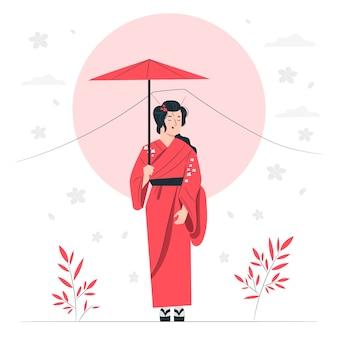 Japan concept illustratie