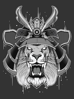 Japan krijger met leeuwenkop