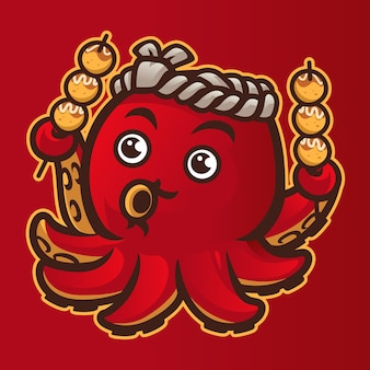 Japan octopus mascotte