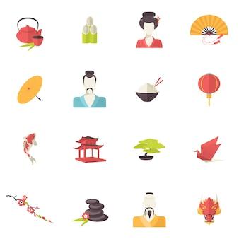 Japan pictogrammen plat