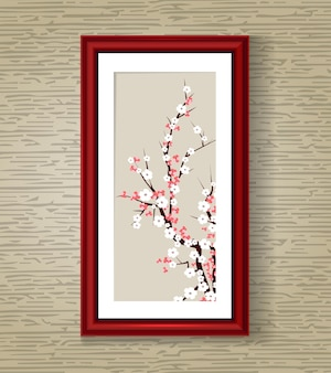 Japan sakura bloesem vectorillustratie