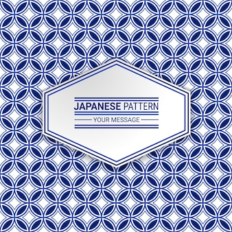 Japans geometrisch naadloos patroon
