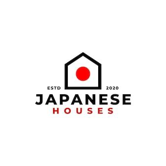 Japans huislogo voor onroerendgoedbedrijf.