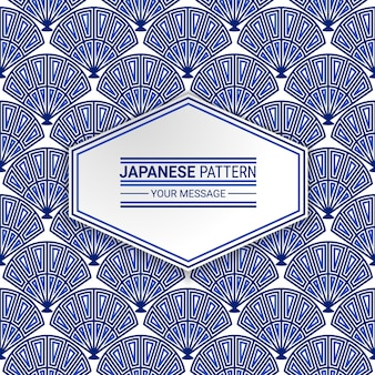Japans inheems naadloos patroon