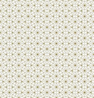 Japans naadloos kumiko-patroon in bruine fijne lijntjes.