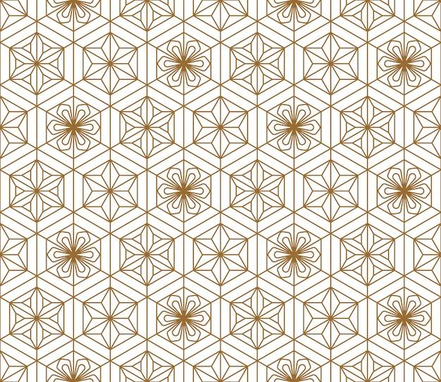Japans naadloos patroon in stijl kumiko