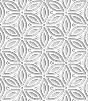 Japans naadloos patroon uitgesneden uit papier