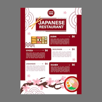 Japans restaurantmenu