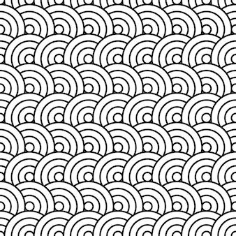 Japanse cirkel naadloze patroon textiel print. geweldig voor zomer vintage stof, scrapbooking, behang, cadeaupapier. herhaal patroon achtergrondontwerp