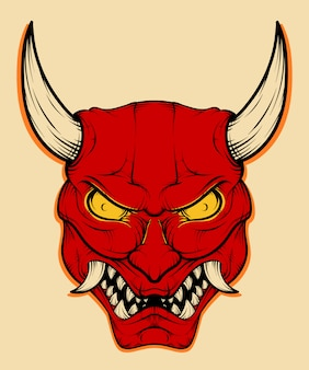 Japanse demon mask illustratie
