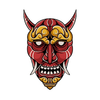 Japanse demon masker illustratie