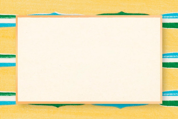 Japanse houtblok patroon frame vector gele illustratie