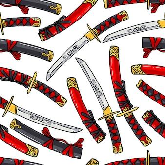Japanse katana naadloze patroon