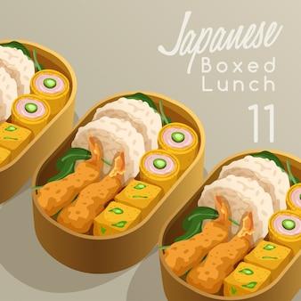 Japanse lunchpakket set illustratie