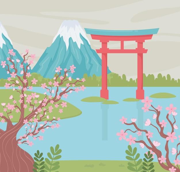 Japanse monumentale berg