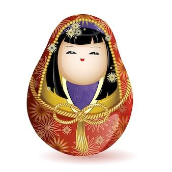 Japanse nationale houten pop