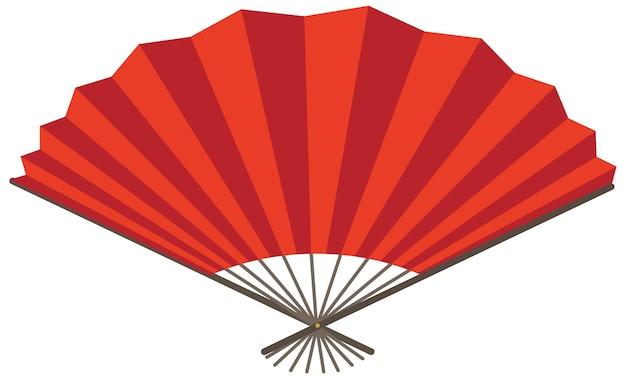 Japanse opvouwbare ventilator of handventilator geïsoleerd