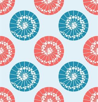 Japanse paraplu polkadot stijl naadloze patroon vector