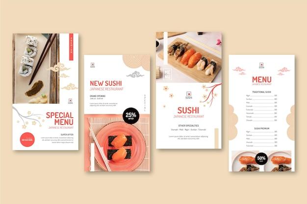 Japanse restaurant instagramverhalen