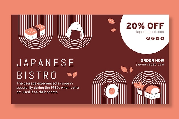 Japanse restaurantbanner