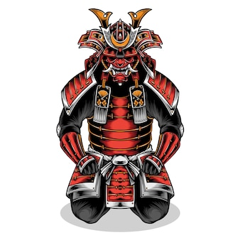 Japanse samurai volledig pantser