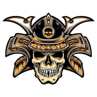 Japanse schedel samurai
