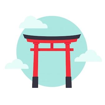 Japanse torii-poort