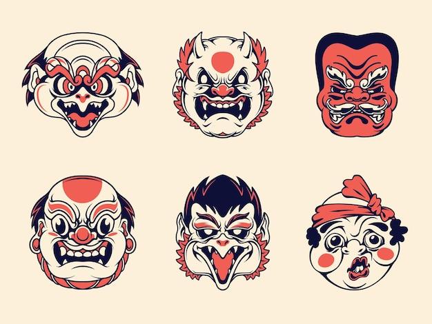 Japanse traditionele maskercollectie