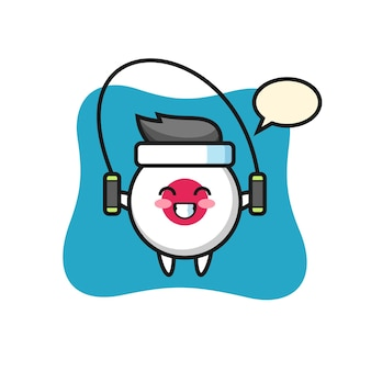 Japanse vlagbadge, schattig stijlontwerp voor t-shirt, sticker, logo-element