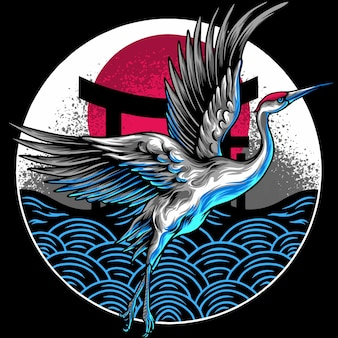 Japanse vliegende kranen