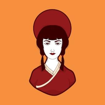 Japanse vrouwenillustratie