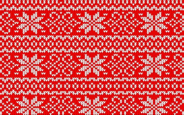 Jaquard patroon voor kerstmis met sneeuwvlokken