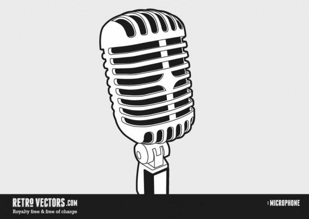 Jaren '50 en '60 microfoon