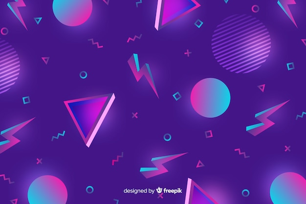 Jaren 80 geometrische kleurrijke decoratieve achtergrond