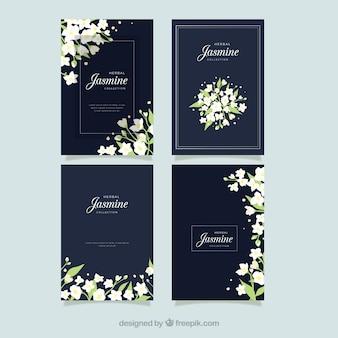 Jasmijnskaarten met elegante stijl