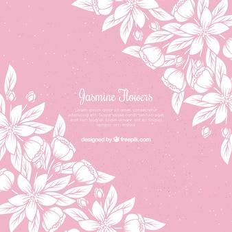 Jasmine achtergrond met elegante stijl